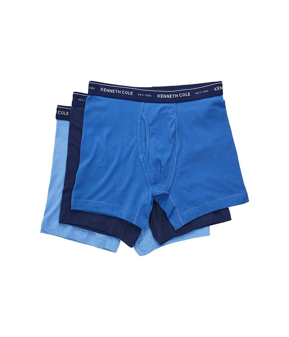 Kenneth Cole Reaction - Boxer Brief (Medieval Blue/Bright Cobalt/Cornflower Blue) Men's Underwear