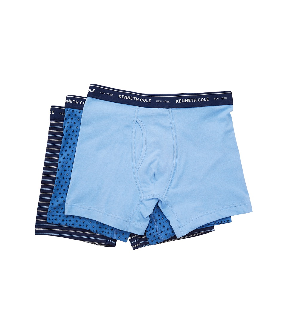 Kenneth Cole Reaction - Boxer Brief Set (Medieval Blue/Cornflower Blue/Bright Cobalt) Men's Underwear
