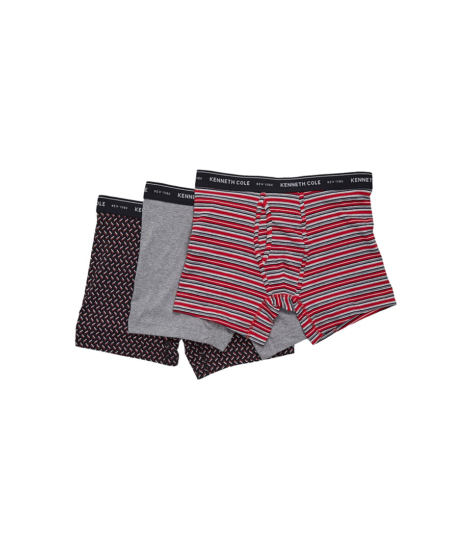 Kenneth Cole Reaction - Boxer Brief Set (Haute Red/Medium Heather Grey/Black Herringbone) Men's Underwear