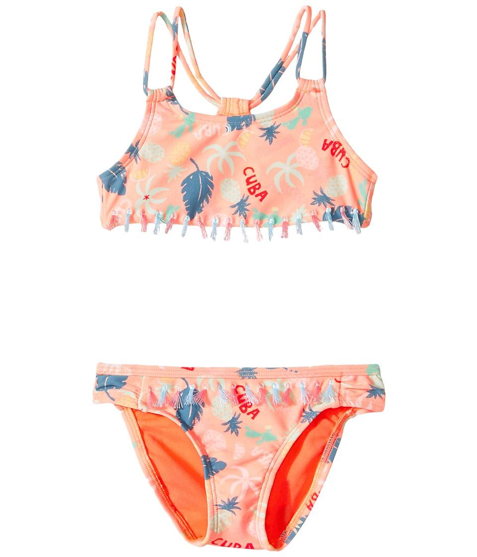 Roxy Kids - Sandy Break Athletic Set (Toddler/Little Kids) (Peach Nectar Exotic) Girl's Swimwear Sets