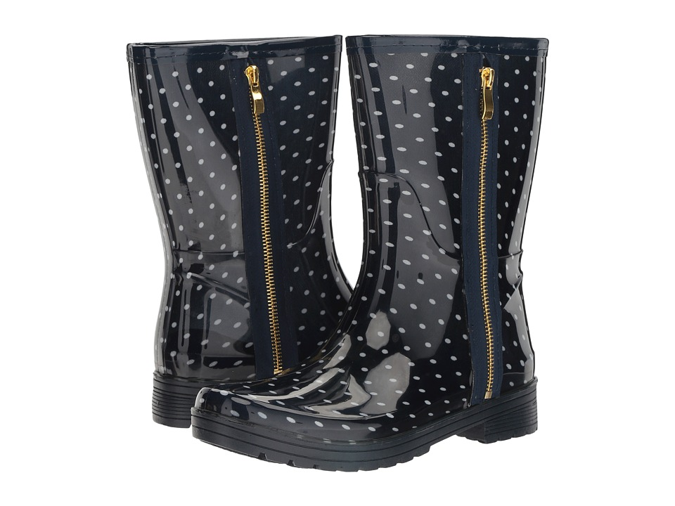 Kenneth Cole Unlisted - Rain Zip 2 (Navy/White Polka Dot) Women's Rain Boots