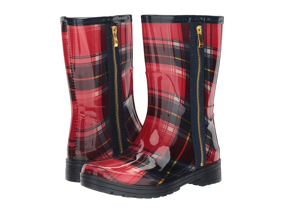 Kenneth Cole Unlisted - Rain Zip 2 (Red/Blue Plaid) Women's Rain Boots