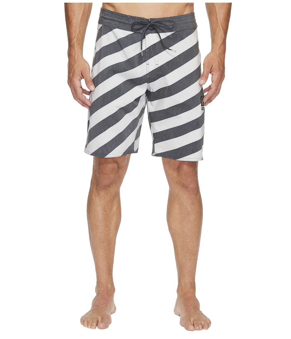 Volcom - Stripey Slinger 19 Boardshorts (Black) Men's Swimwear