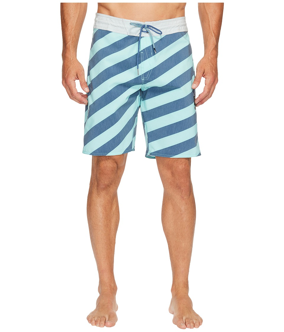 Volcom - Stripey Slinger 19 Boardshorts (Ice Green) Men's Swimwear