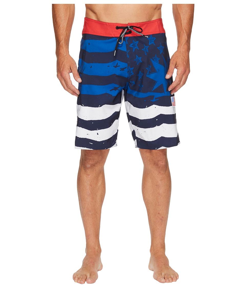 Volcom - 4th of July Style 20 Boardshorts (True Blue) Men's Swimwear