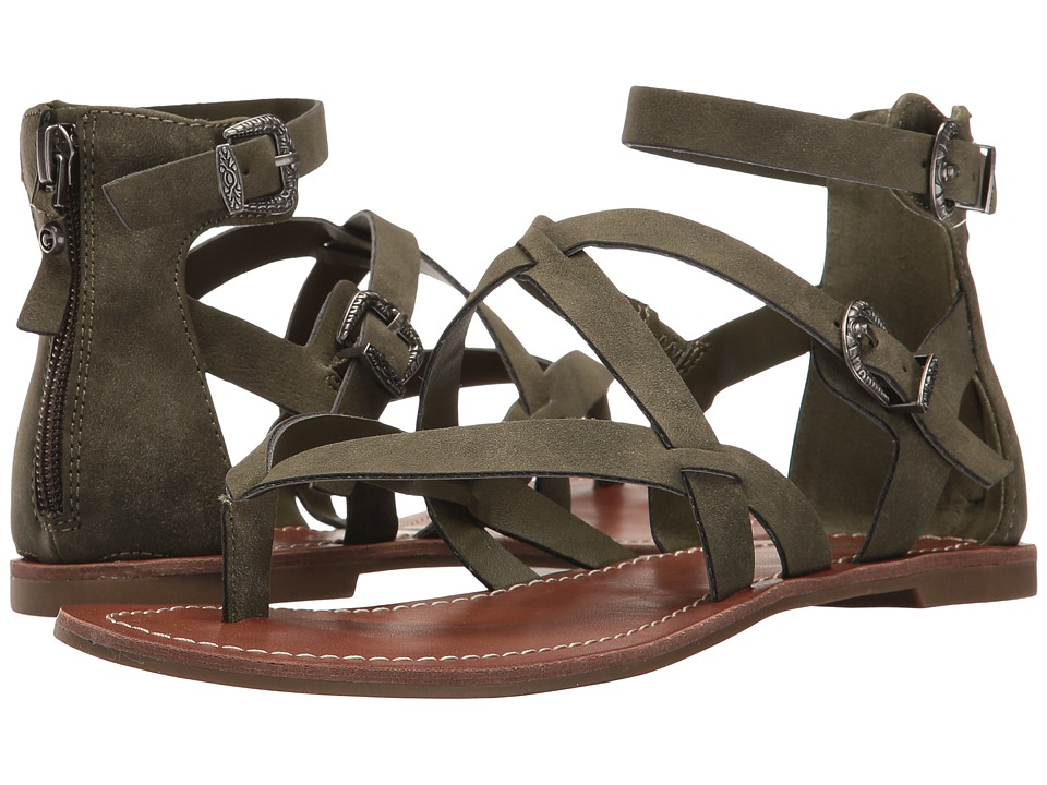 G by GUESS Hollee (Olive Distressed Suede) Women