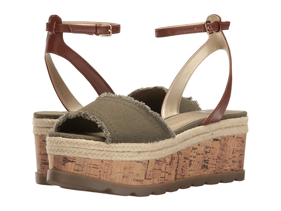 G by GUESS - Baker (Olive/Caramel Martin Canvas) Women's Shoes