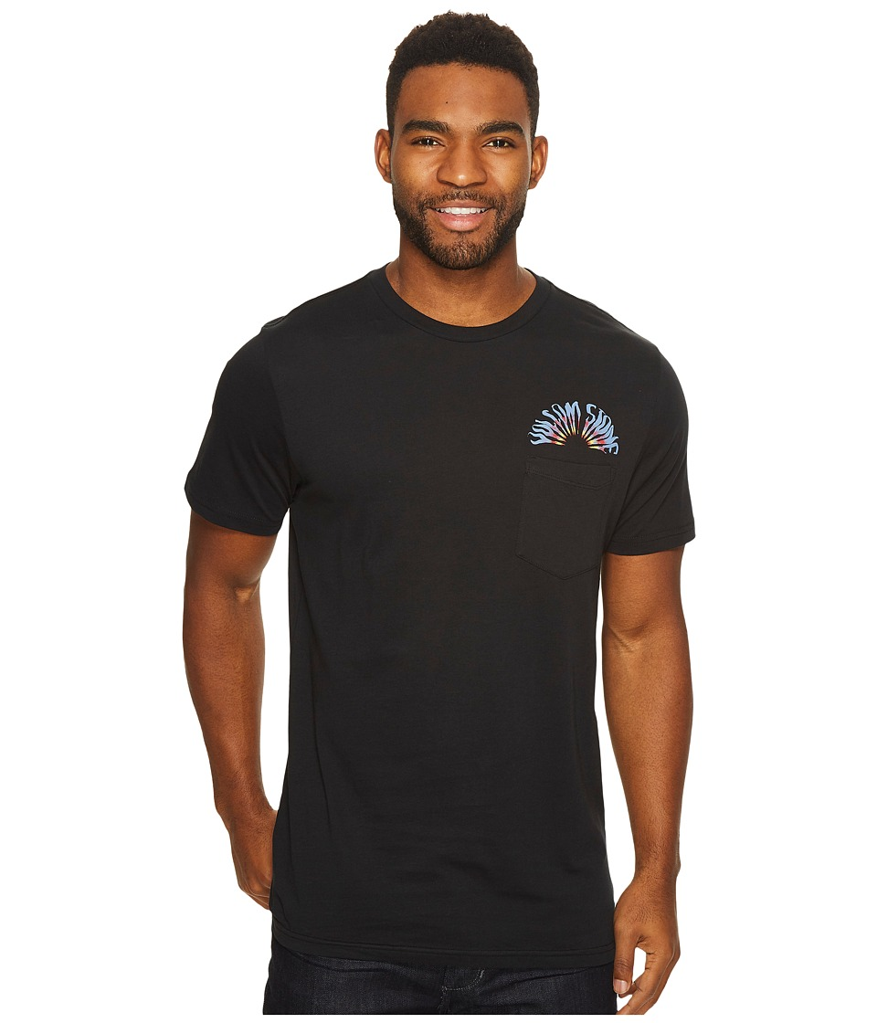 Volcom - Doom Bloom Short Sleeve Pocket (Black) Men's T Shirt