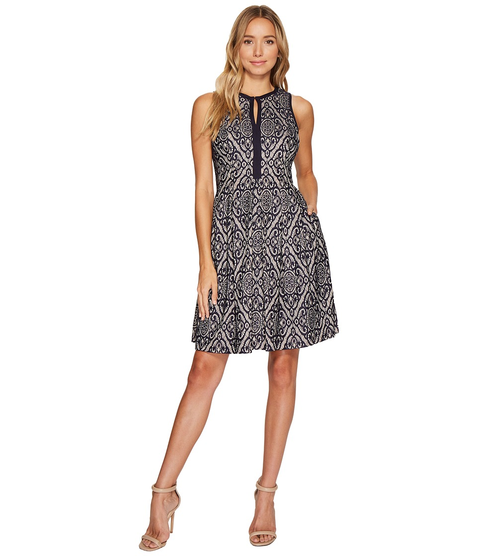 Vince Camuto Lace Sleeveless Fit Flare Dress