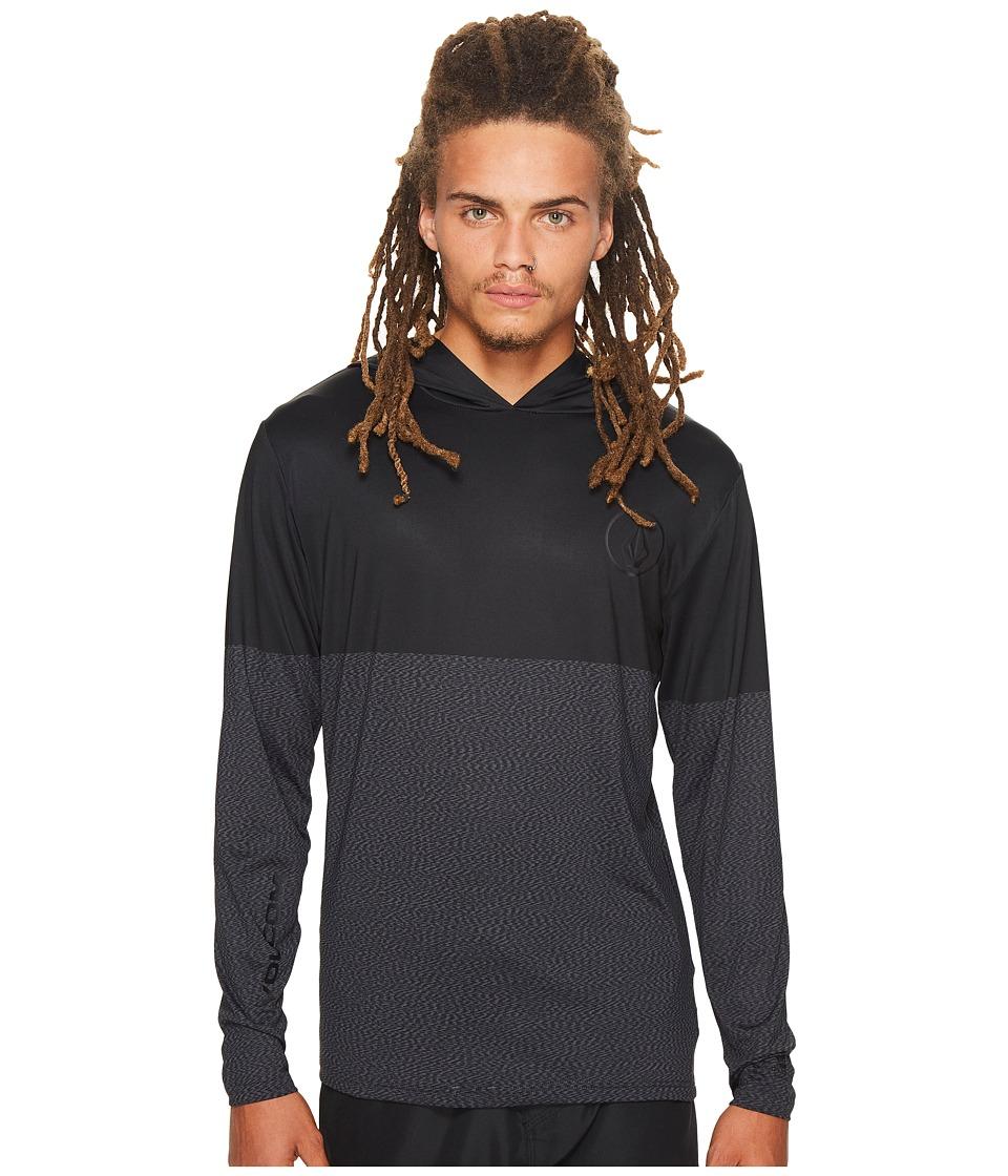 Volcom - Distortion Block Long Sleeve Surf Shirt (Stealth) Men's Clothing