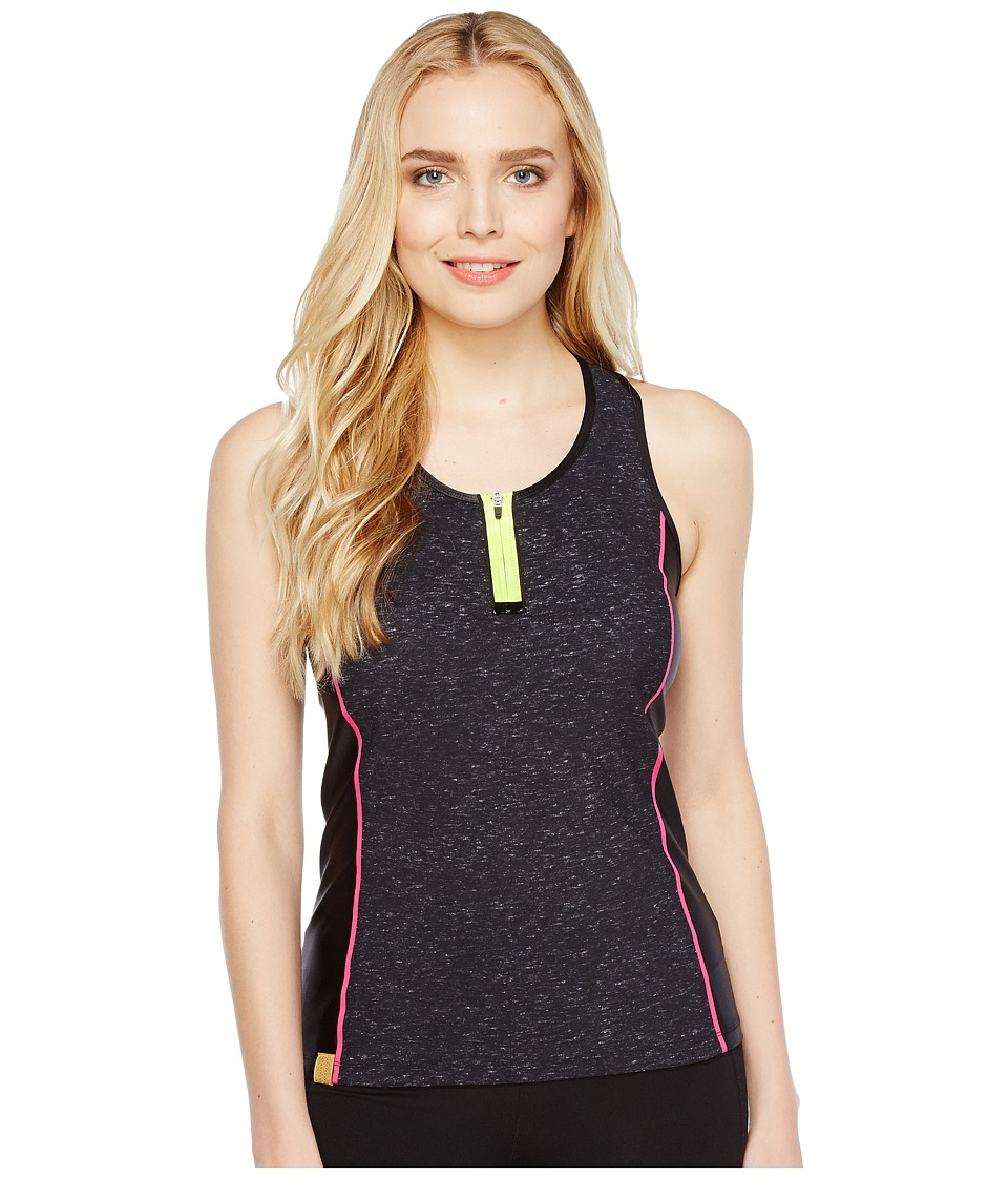 Monreal London - Action Tank Top (Black Melange Print) Women's Sleeveless