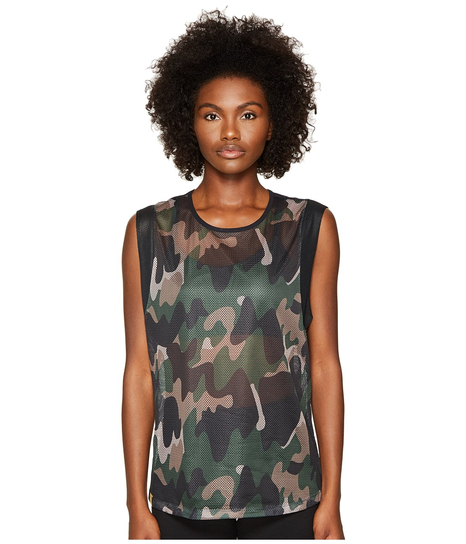 Monreal London - Workout Top (Moss Camouflage) Women's Clothing