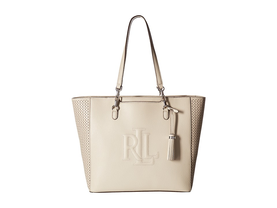 LAUREN Ralph Lauren - Anstey Halee Tote (Beige) Tote Handbags