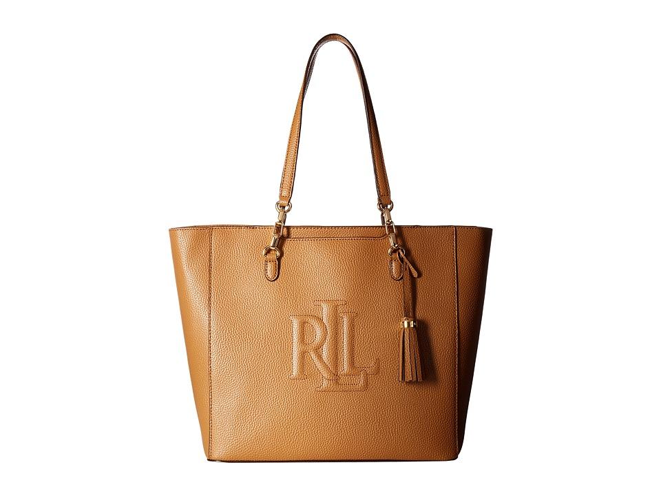 LAUREN Ralph Lauren - Anstey Halee Tote (Caramel) Tote Handbags