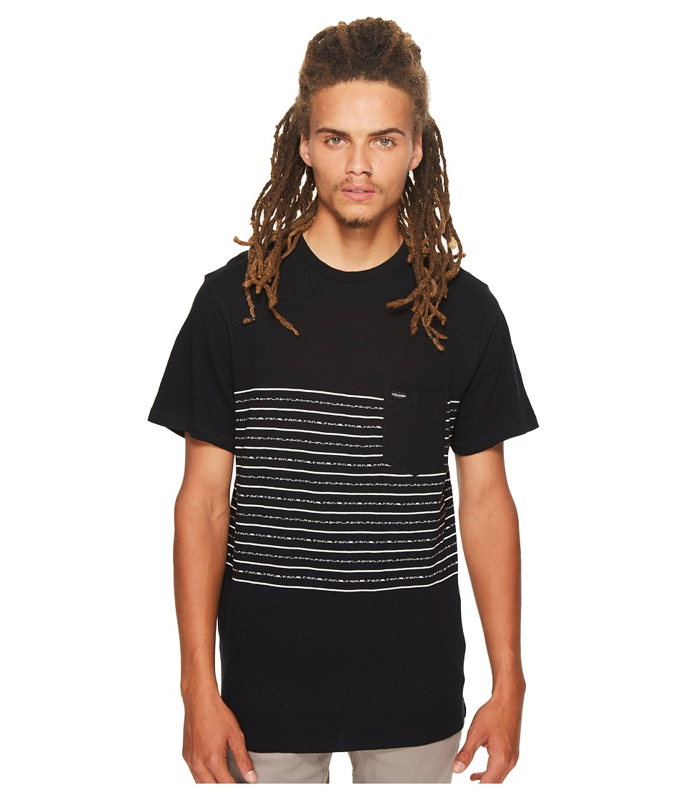 Volcom - Threezy Crew Tee (Black) Men's Clothing