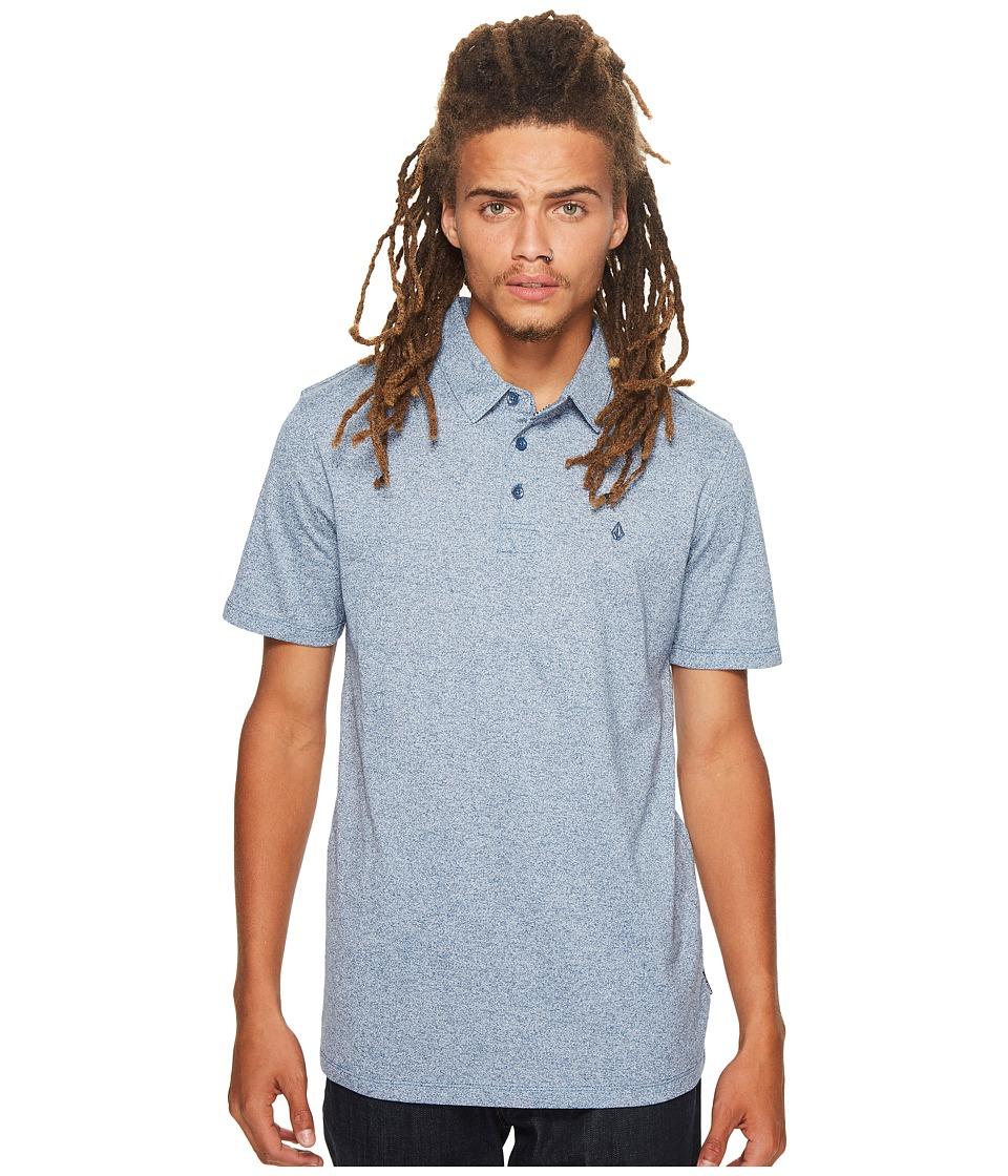 Volcom - Wowzer Polo (Smokey Blue) Men's Short Sleeve Knit