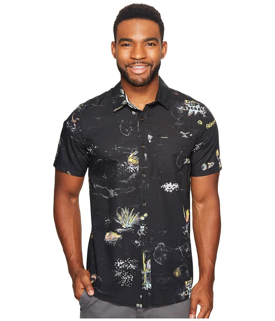 Volcom - No Vacancy Short Sleeve Woven (Black) Men's Clothing