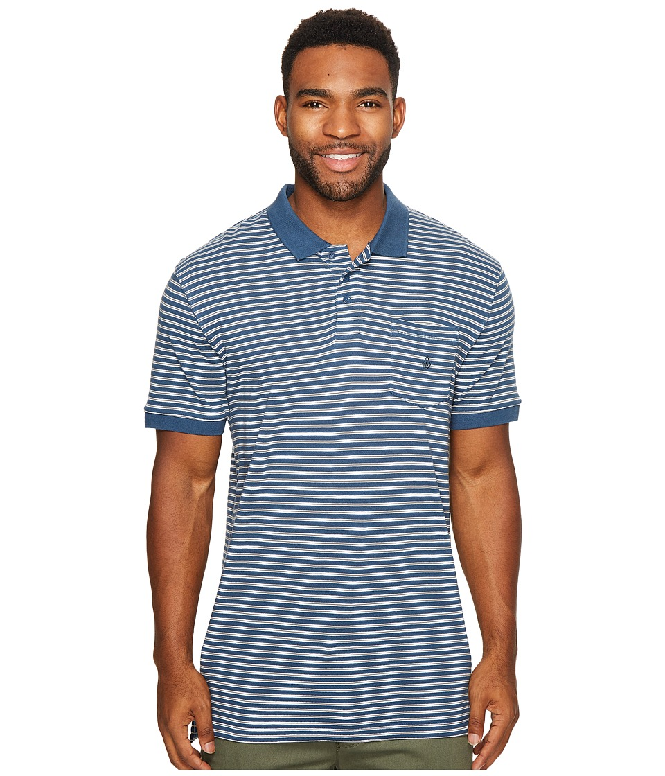 Volcom - Wowzer Stripe Polo (Smokey Blue) Men's Clothing