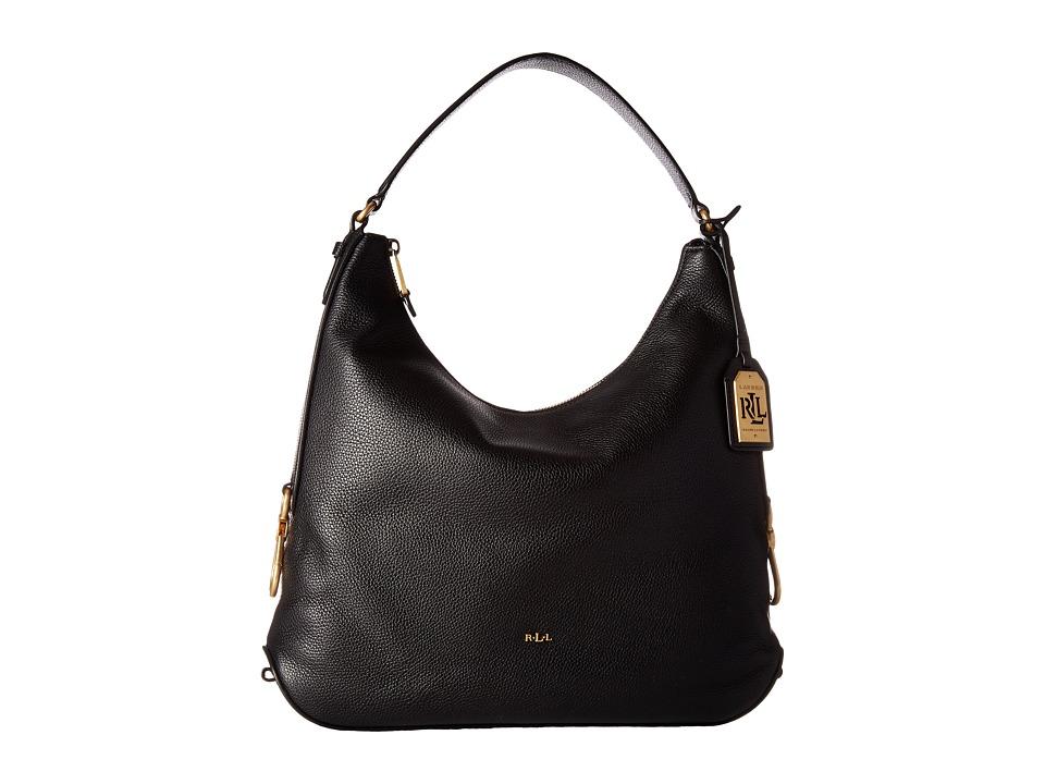 LAUREN Ralph Lauren - Dawson Hadley Hobo (Black) Hobo Handbags
