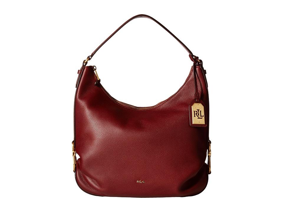 LAUREN Ralph Lauren - Dawson Hadley Hobo (Auburn) Hobo Handbags
