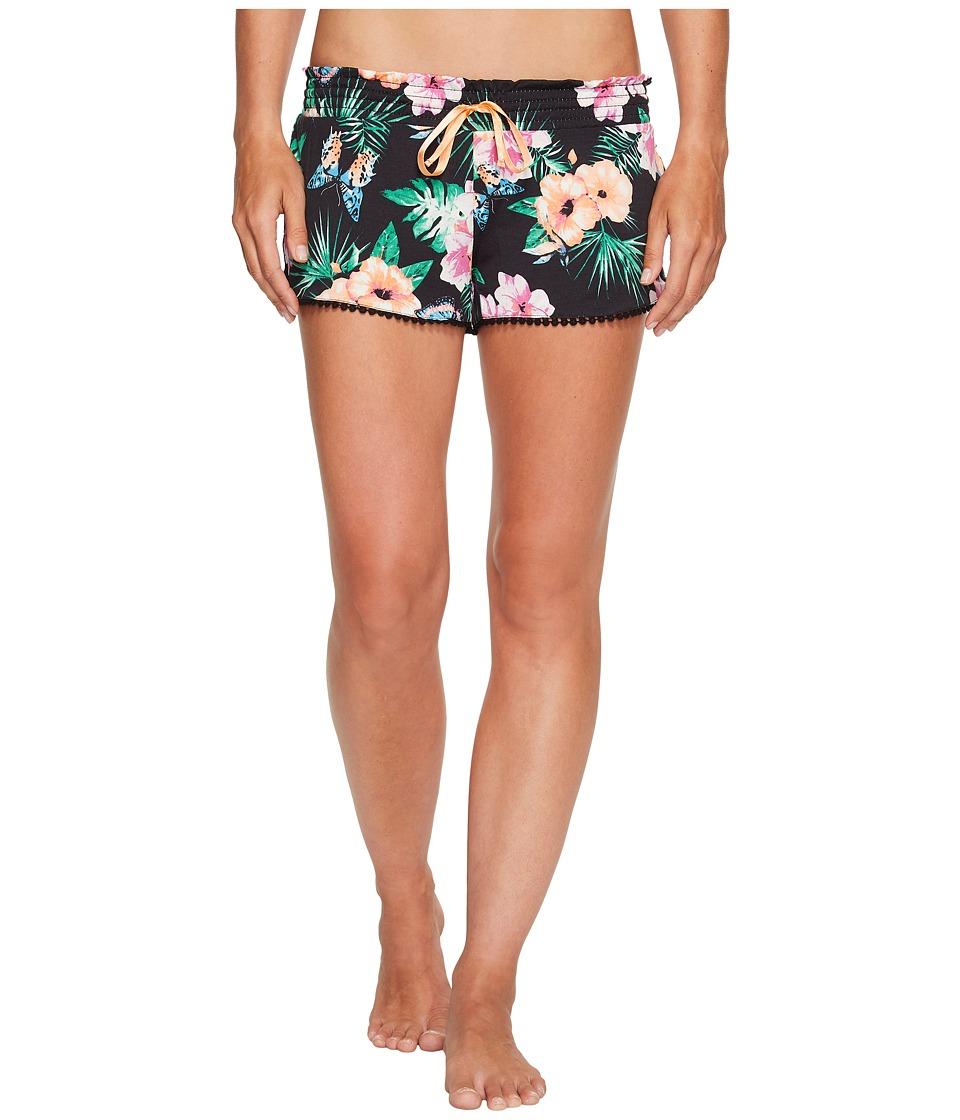 P.J. Salvage - Meet Me At Sunset Floral Shorts (Black) Women's Pajama