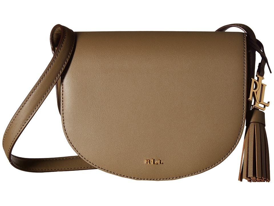 LAUREN Ralph Lauren - Dryden Caley Mini Saddle (Sage/Caramel) Handbags
