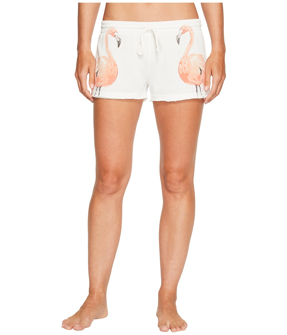 P.J. Salvage - Meet Me At Sunset Flamingo Shorts (White) Women's Pajama
