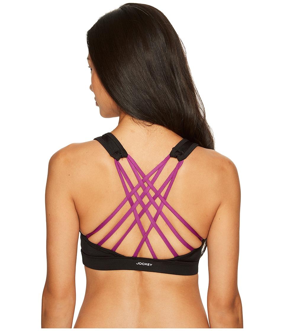 Jockey Active Crisscrossed Back Sports Bra (Red Violet) Women