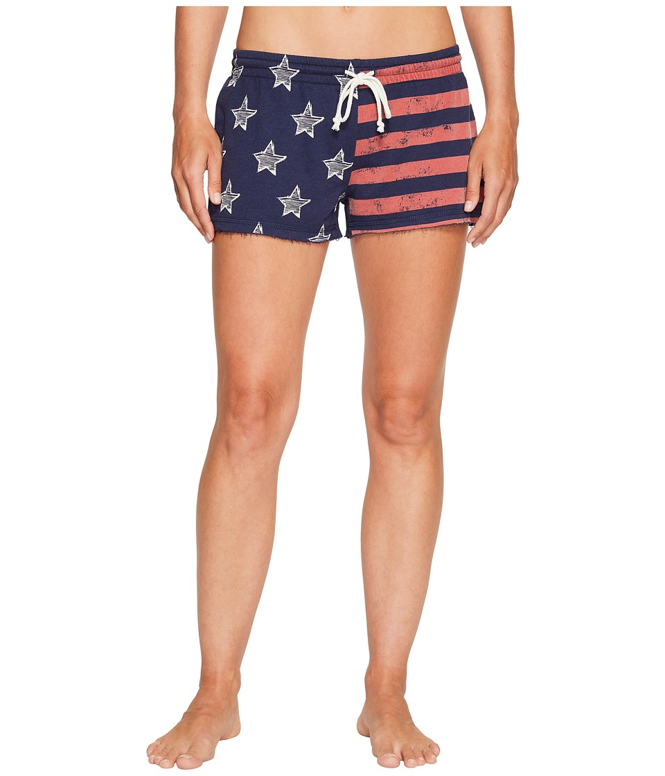 P.J. Salvage - All-American Flag Shorts (Navy) Women's Pajama