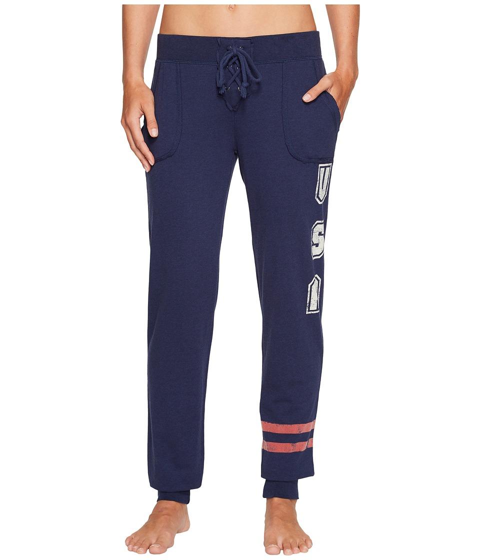 P.J. Salvage - All-American USA Jogger (Navy) Women's Pajama
