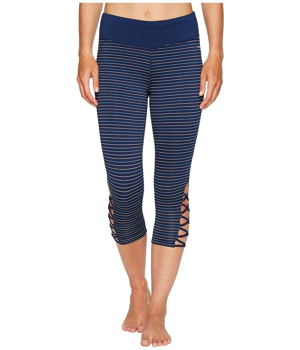 Jockey Active - Go Stripe Capris (Midnight) Women's Capri