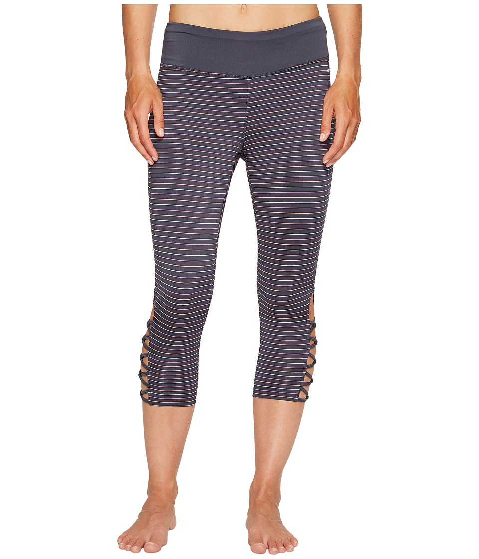 Jockey Active - Go Stripe Capris (Dirty Denim) Women's Capri