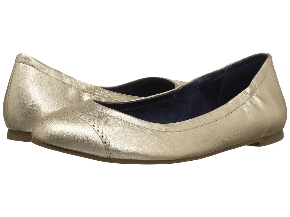 Jack Rogers - Bree Leather (Platinum) Women's Slip on Shoes