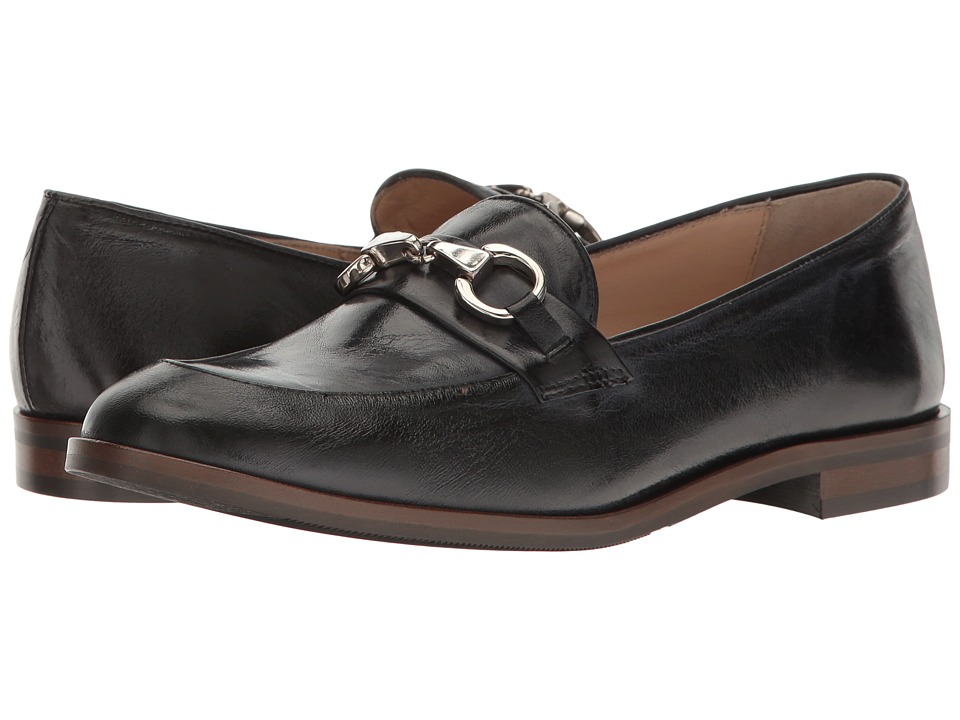 Massimo Matteo - Moc Toe with Bit (Black) Women's Slip-on Dress Shoes