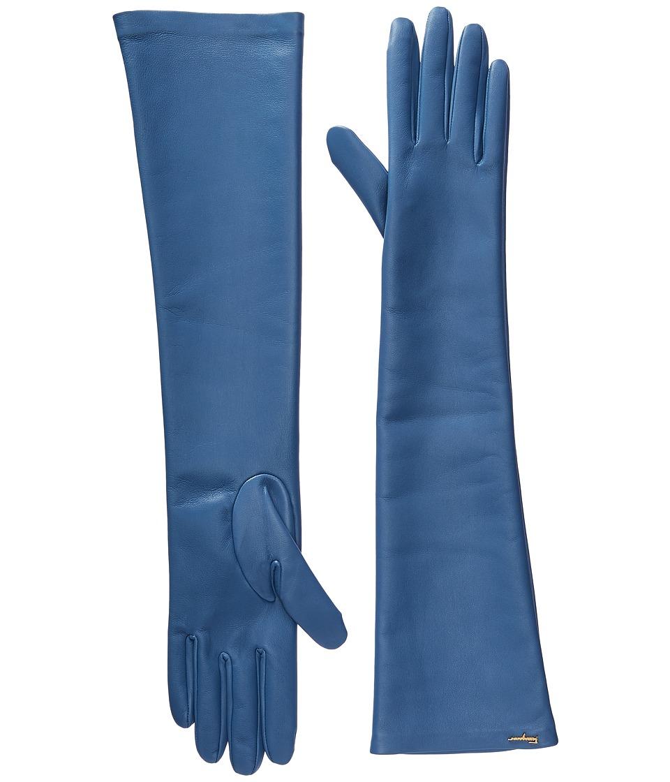 Salvatore Ferragamo 360651 GU NAP.STR Gloves (Blue Stone/Marine Blue Stone/Marine) Dress Gloves