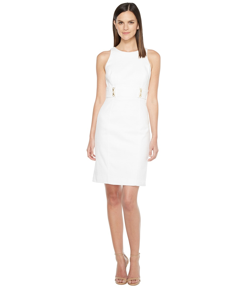 Tahari by ASL - Tweed Sheath Dress (White) Women's Dress
