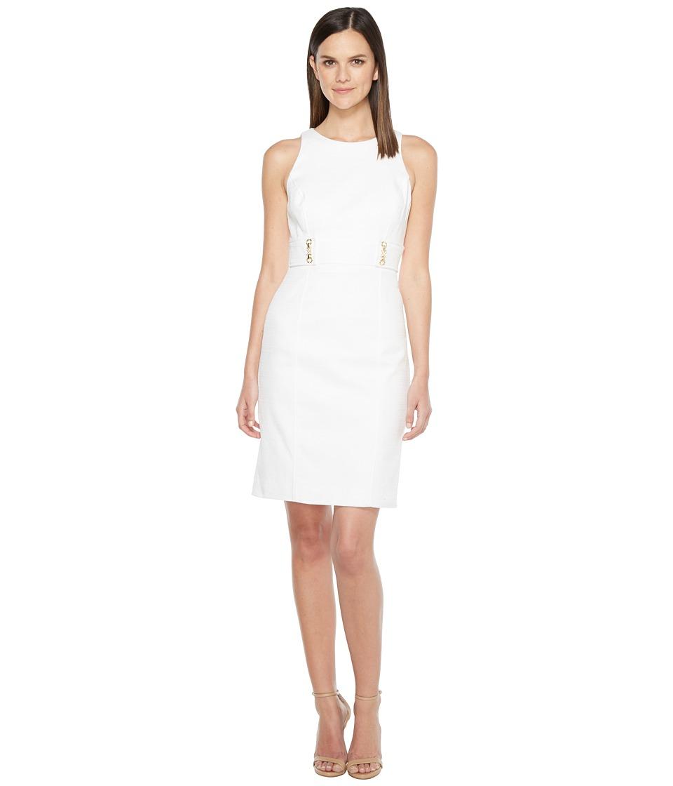 Tahari by ASL - Tweed Sheath Dress (White) Women's Dress