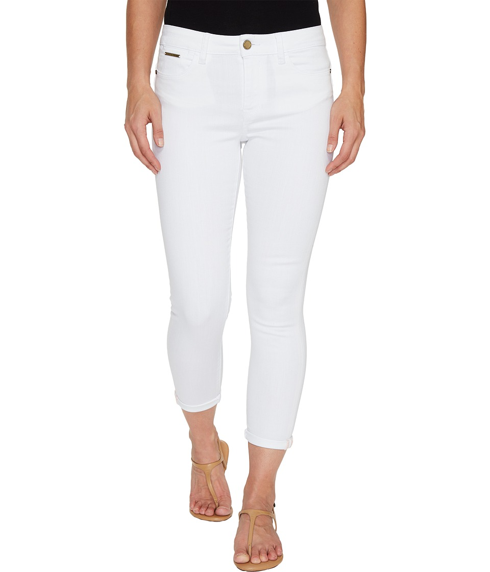 Ivanka Trump - Denim Rolled Crop Jeans in White (White) Women's Jeans
