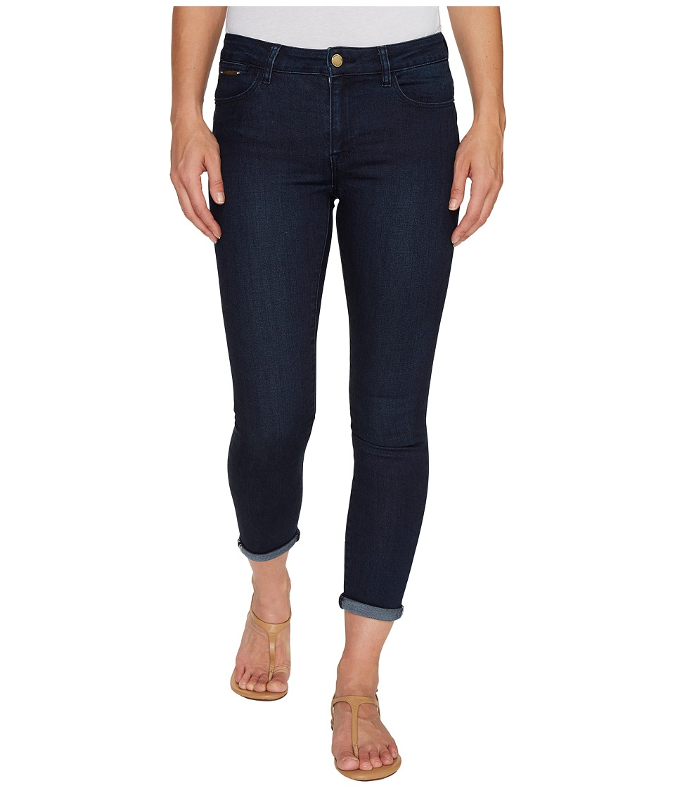 Ivanka Trump - Denim Rolled Crop Jeans in Dark Blue (Dark Blue) Women's Jeans