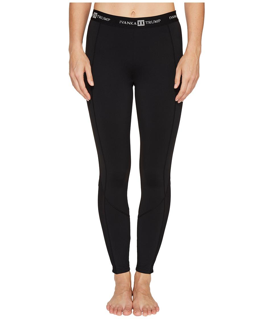 Ivanka Trump - Ivanka Logo Band Performance Pants (Black) Women's Casual Pants