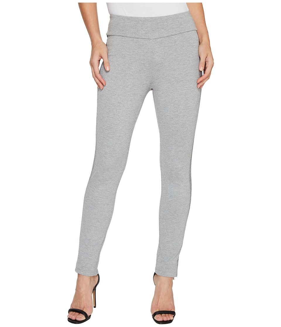 Ivanka Trump - Ponte Side Seam Top Stitch Pants (Heather Grey) Women's Casual Pants