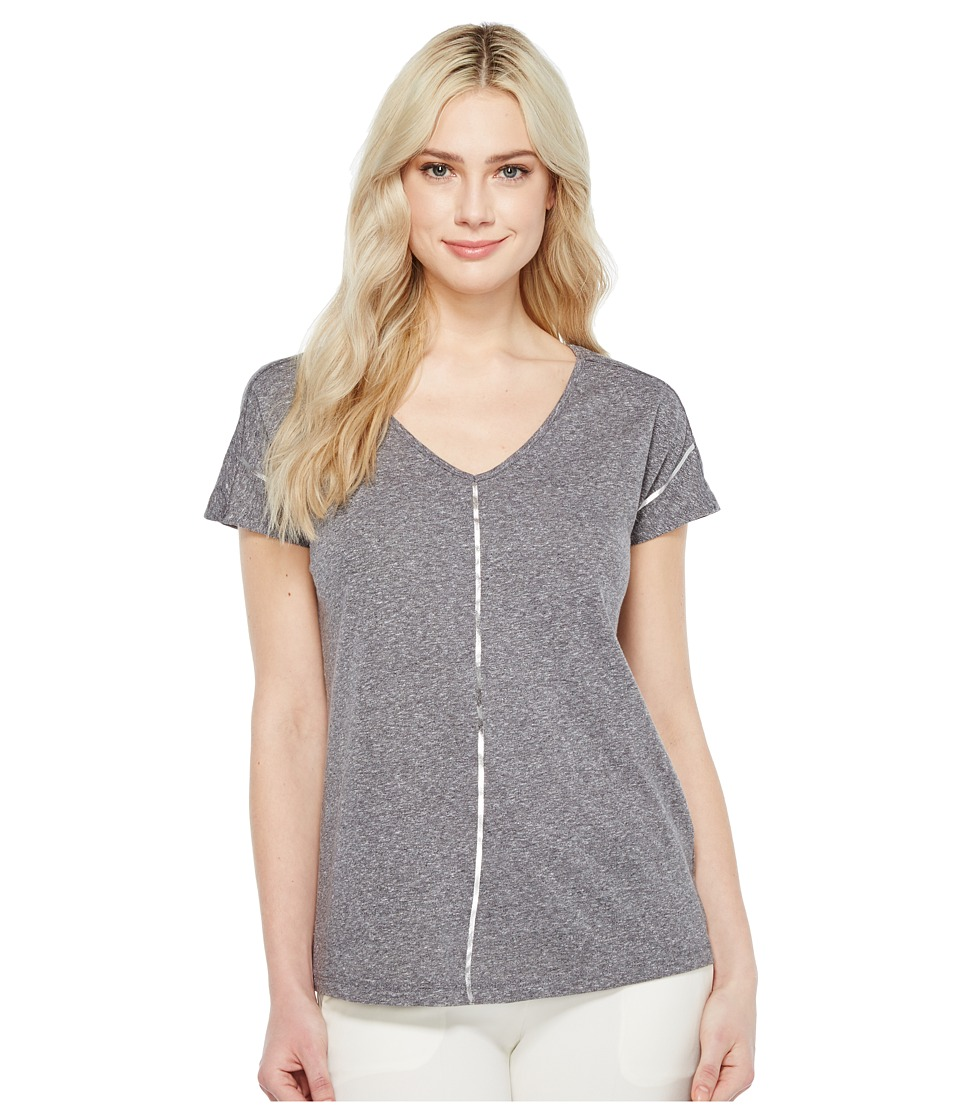 Ivanka Trump - Metallic Stripe Tee (Heather Grey) Women's T Shirt