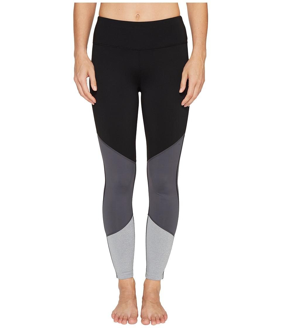 Ivanka Trump Performance Color Block Leggings (Black/Magnet/Heather Grey) Women