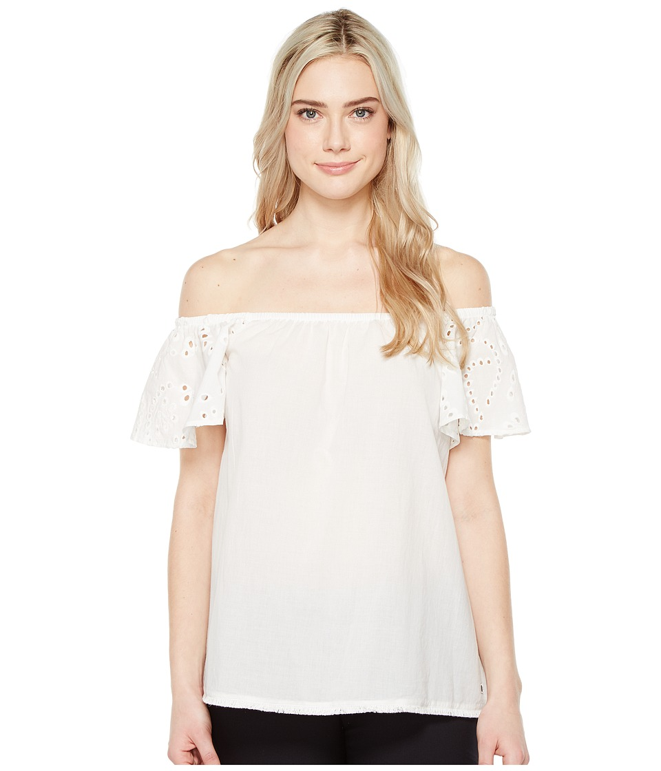 Ivanka Trump - Off the Shoulder Ruffle Blouse (White) Women's Blouse