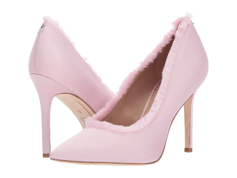 Sam Edelman Halan Pearl Pink Satin Lux Fabric High Heels