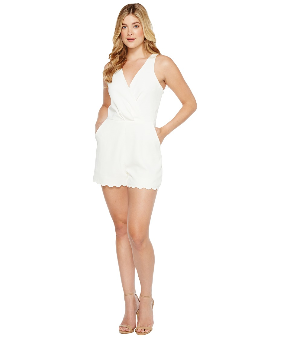Adelyn Rae - Serena Woven Romper (Off-White) Women's Jumpsuit & Rompers One Piece
