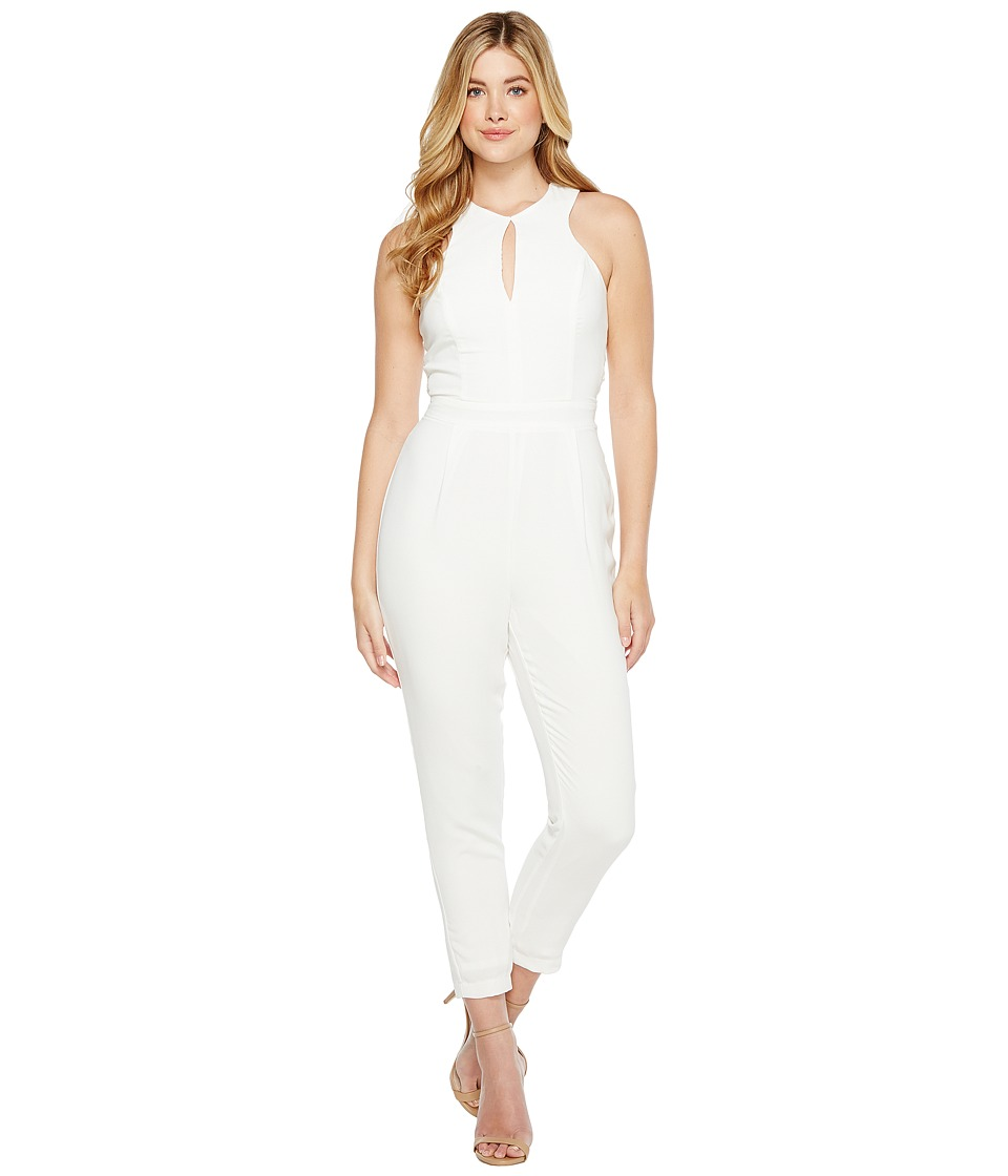 Adelyn Rae - Keira Woven Jumpsuit (White) Women's Jumpsuit & Rompers One Piece