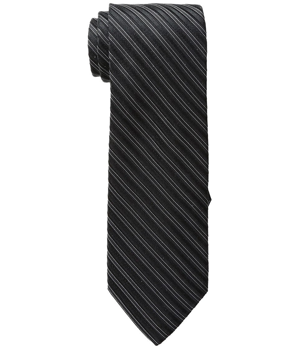 MICHAEL Michael Kors - Ribbed Stripe (Black) Ties