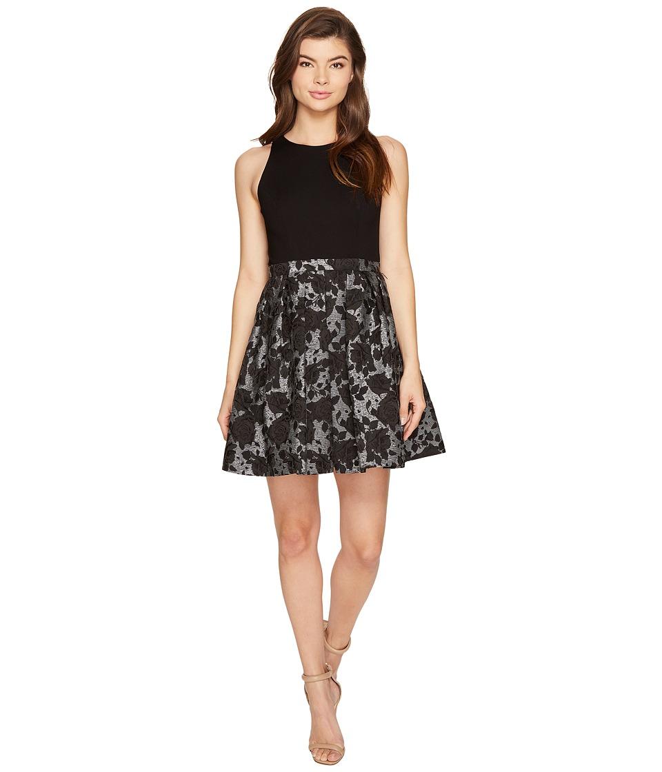 Aidan Mattox Ponte Jacquard Cocktail Dress (Black) Women