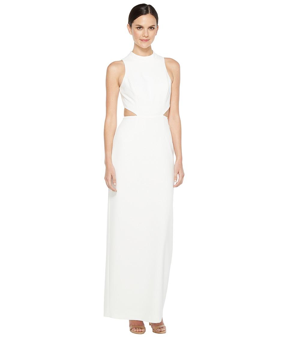 Aidan Mattox - Crepe Column Gown (Ivory) Women's Dress